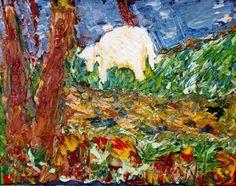 Arte Moderna & Contemporânea: Paisagem bucólica com ovelha