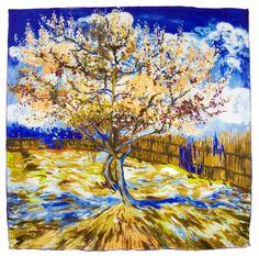 Foulard en soie carré artysilk arbre inspiration Claude Monet - Foulard/Foulard soie carré - Mes Echarpes