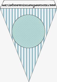 Rayas y Lunares Celeste y Blanco: Imprimibles Gratis para Fiestas.