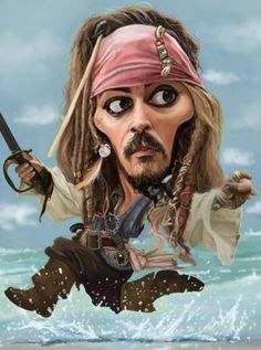 Capt Jack Sparrow.        Johnny Depp
