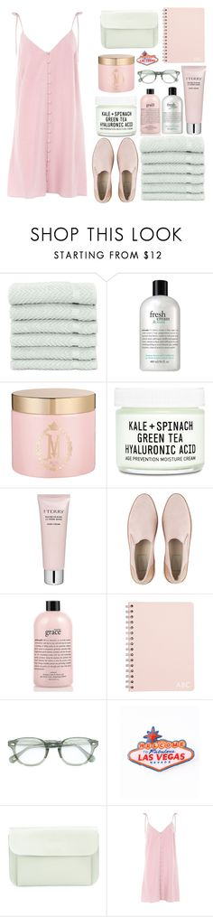 """""""#46 Mint and Rose"""" by kateknowles1 ❤ liked on Polyvore featuring Linum Home Textiles, philosophy, Mor, Youth To The People, Space NK, UGG, Moscot, Ally Capellino and Topshop"""