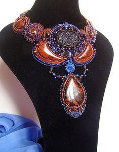 Beautiful jewelry by Oksana Petriv Click on link to see more photos - http://beadsmagic.com/?p=4461