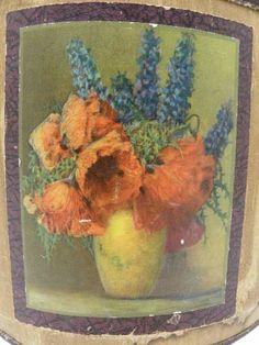 shopgoodwill.com: Antique Basket Artist M. Streckenbach Poppies