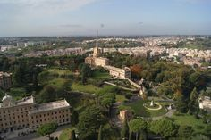 View from top of the Basilica St. Peter in Vatican city
