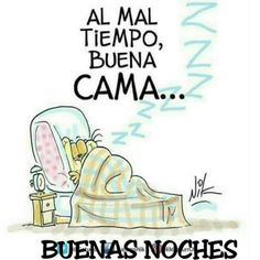 Al mal tiempo buena cama Good Night