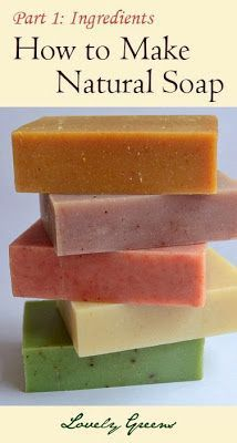 Learning how to make your own soap is a fun and rewarding hobby! It's easy to do in your own kitchen and you can use all natural ingredients including honey, flowers, herbs, and essential oils. Learn how with this four-part series from Lovely Greens #beauty
