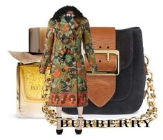"""""""Burberry print trench heels and bag."""" by misnik ❤ liked on Polyvore featuring Burberry, women's clothing, women, female, woman, misses and juniors"""