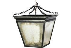 One Kings Lane - Destination: Mexico - Hanging Lantern w/ Antiqued Glass