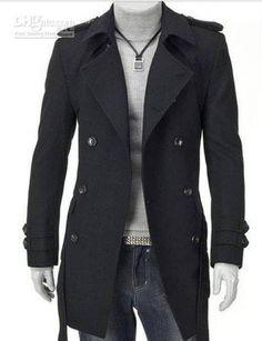 Мужское непромокаемое пальто с полным рукавом. M, L, XL, XXL, мужской тренч темного цвета, модное непромокаемое черное пальто с полным рукавом, мужская осенняя верхняя одежда благородного цвета, серое полупальто для мужчины, мужская осенняя мода