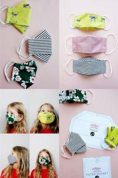 Easy Face Masks, Face Masks For Kids, Best Face Mask, Diy Face Mask, Sewing Tutorials, Sewing Projects, Sewing Patterns, Sewing Kids Clothes, Sewing For Kids