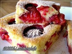 Hungarian Recipes, Cheesecake, Food And Drink, Sweets, Gummi Candy, Cheesecakes, Candy, Goodies, Cherry Cheesecake Shooters
