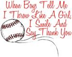 """Haha Yeah thats right and i hit like a GIRL too... Right over your head!!!  :-)  """"For TANA.....softball""""- thx Malea!!!"""