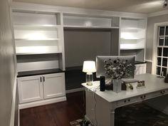 Post with 8 votes and 6677 views. Shared by Custom DIY Built-in Cabinets, Desk and Bookshelves Basement Entertainment Center, Sliding Shelves, Moldings And Trim, Built In Cabinets, Cabinet Doors, Built Ins, Bookshelves, Really Cool Stuff, Desk