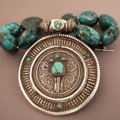 Tibet | Silver and turquoise necklace | Sold