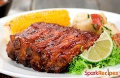 Country Style Maple Pork Ribs (Low Sugar) | via @SparkPeople #recipe #meat #dinner