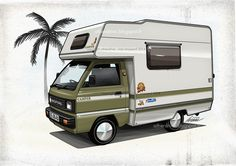 micro campervan conversions hijet google search. Black Bedroom Furniture Sets. Home Design Ideas