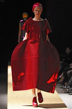 Shine on, Rei Kawakubo! Dying to see a video of this show so I can see different angles and how the clothes move!