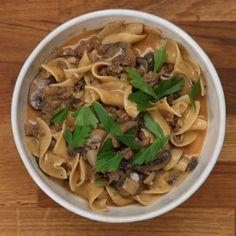 One-Pot Ground Beef Stroganoff Recipe by Tasty