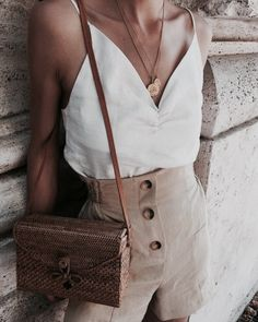 Button front + cami.