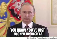 Vladimir Putins response after he heard about his jet being shot down