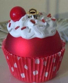 DIY Cupcake Ornament (Inspiration Only. No pattern or Instructions.)