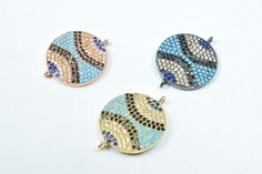 20x Colorful Resin Pave Rhinestone European Beads Large Hole Charms Craft 14mm