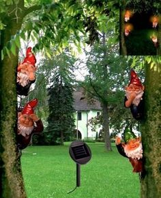 Solar Garden Gnomes Set Of 4 . $29.95. Suitable For Outdoor Use. No Mess