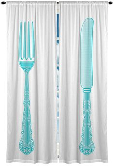 Fork and Kni fe Ornate Window Curtain