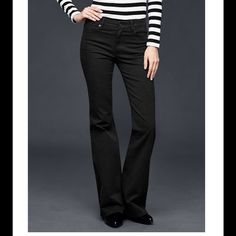 GAP Black Authentic Flare Jeans Sz 29r! NWT! Brand new with tags. Equivalent to size 8. No additional measurements. GAP Jeans Flare & Wide Leg