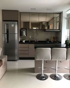 41 Beautiful Kitchen Ideas & Designs In Your Home Decoration - Lily Fashion Style Kitchen Room Design, Home Room Design, Kitchen Cabinet Design, Kitchen Sets, Modern Kitchen Design, Home Decor Kitchen, Interior Design Kitchen, Kitchen Furniture, Home Kitchens