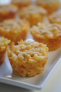 Mac N Cheese Cups - delish and a party favorite (my party goers didn't like them at room temp...)
