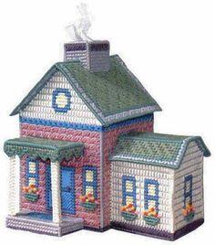 Resultado de imagen para casas en plastic canvas