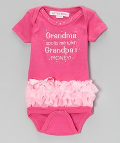 Take a look at this Little Diva Hot Pink Grandma Spoils Bodysuit - Infant on zulily today!
