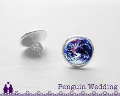 SALE Earth Earrings Galaxy Stud Earrings Wedding by PenguinWedding