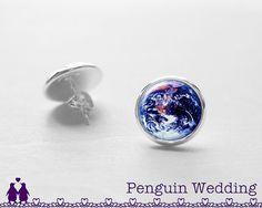 SALE Earth Earrings Galaxy Stud Earrings Wedding by PenguinWedding