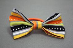 Festive Halloween Striped Bow Hair Band by LittlePeachFuzz on Etsy, $3.00
