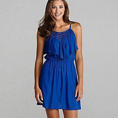 Angie Lattice Ruffle-Top Dress | Dillards.com