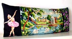 UNIQUE French Needlepoint Tapestry & Antique by Retrocollects,