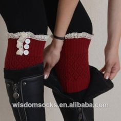 Lace Boot Cuff  1,Material:acrylic, spandex etc;   2,One size for woman;   3,With a modern crochet lace.