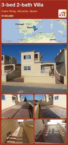 3-bed 2-bath Villa in Cabo Roig, Alicante, Spain ►€120,000 #PropertyForSaleInSpain