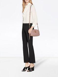 0a21fed6cf7 Gucci GG Marmont Small Matelassé Shoulder Bag