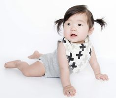 How about some hip crosses while you drool? http://www.matimatibaby.com/collections/bandana-bibs/products/baby-bandana-drool-bibs-shades-leaves