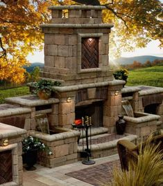 Fireplace+and+fountain+combo.jpg 640×732 pixels