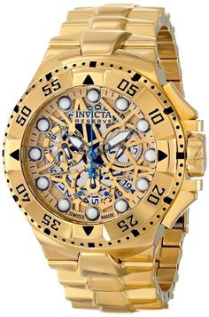 Men gold watches : Gold watches for men Invicta