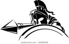 Find Spartan Defensive Attack stock images in HD and millions of other royalty-free stock photos, illustrations and vectors in the Shutterstock collection. Spartan Logo, Spartan Tattoo, Mythos Academy, Small Tattoos, Tattoos For Guys, Knight Tattoo, Greek Warrior, Spartan Warrior, Tribal Tattoos