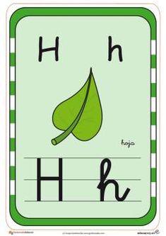 abecedario en color h Professor, Activities For Kids, Alphabet, Preschool, Symbols, Letters, Logos, Portal, Victor Hugo