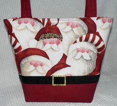 Christmas Purse Hip Santa Boutique Style by LauriesGiftsBiz, $45.00