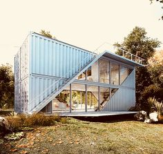 Modern and contemporary shipping container design. Building A Container Home, Storage Container Homes, Cargo Container, Container Home Plans, Sea Container Homes, Shipping Container Home Designs, Shipping Containers, Shipping Container Office, Shipping Container Buildings