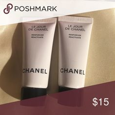 """Le Jour De CHANEL 2 mini Reactivate Chanel - Le Jour De Chanel - 2 mini sample travel size tubes of Reinforcer Reactivate.  Each tube is .17 oz and measures approx just over 2.5"""" tall.  Never used and from smoke free home! Chanel Makeup"""