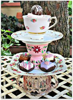 Pink Roses Teacup / Jewelry Holder / by GardenWhimsiesByMary, $40.00
